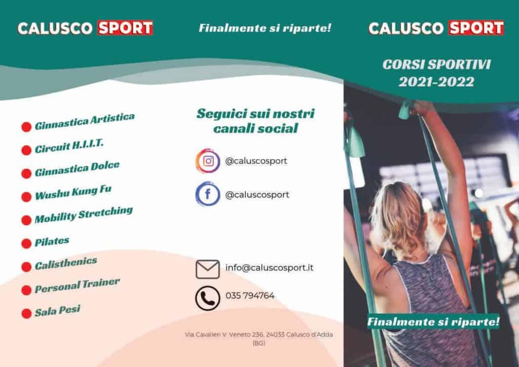 Copertina Volantino Corsi Calusco Sport 2021-2022